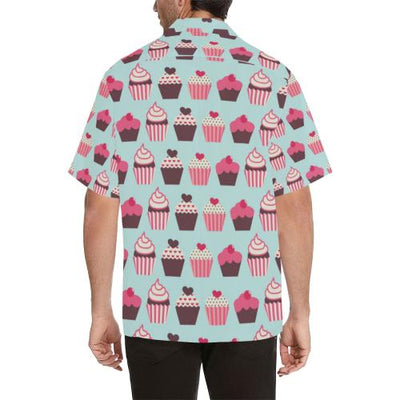 CupCake Print Pattern Men Hawaiian Shirt