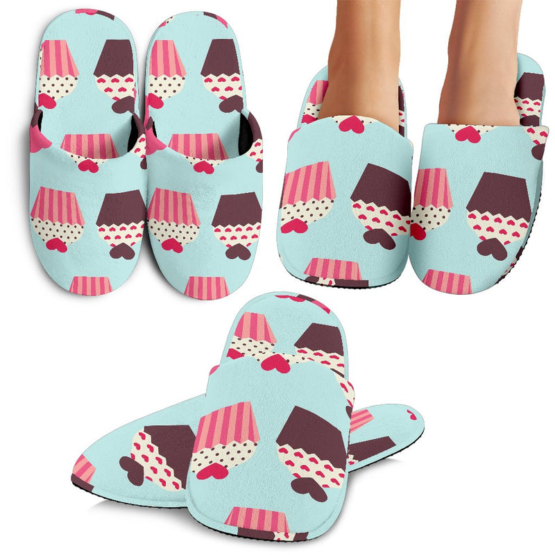 CupCake Print Pattern Slippers