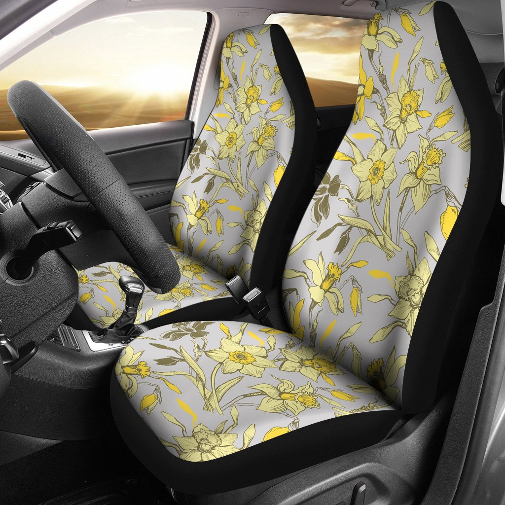 Daffodils Pattern Print Design DF05 Universal Fit Car Seat Covers