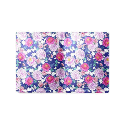 Dahlia Pattern Print Design DH013 Men's Leather Wallet-JorJune