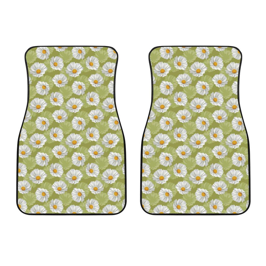 Daisy Pattern Print Design DS06 Car Floor Mats-JorJune