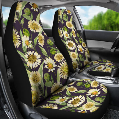 Daisy Vintage Print Pattern Universal Fit Car Seat Covers