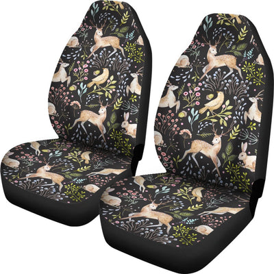 Deer Floral Jungle Universal Fit Car Seat Covers