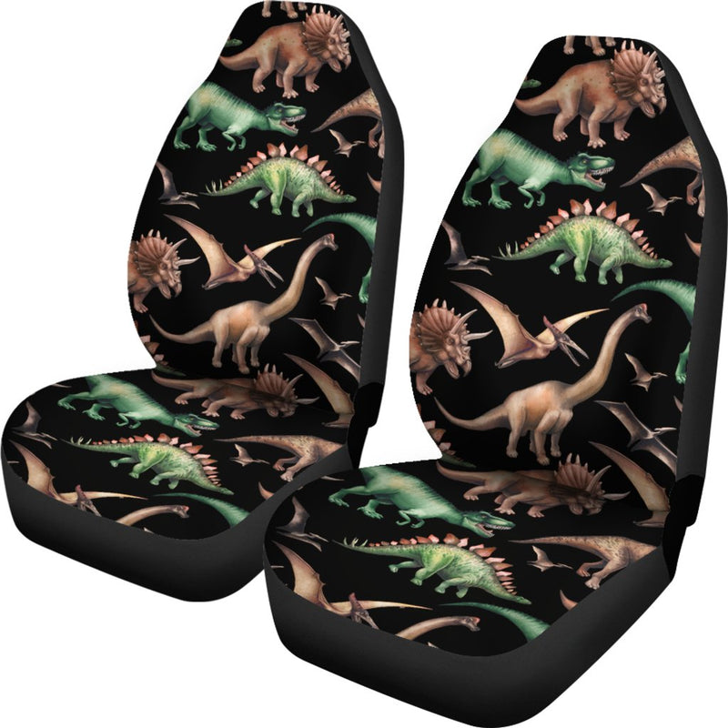 Dinosaur Print Pattern Universal Fit Car Seat Covers