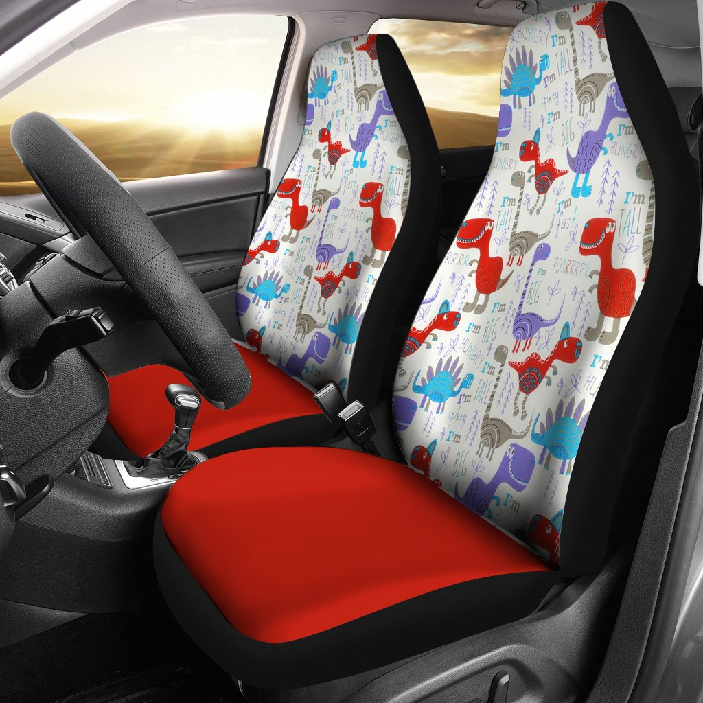 Dinosaur Red Universal Fit Car Seat Covers