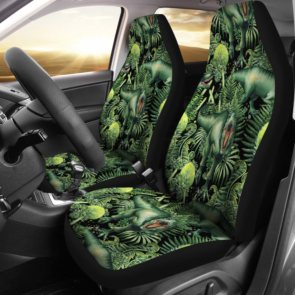 Dinosaur T Rex Print Pattern Universal Fit Car Seat Covers