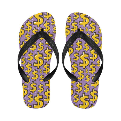 Dollar Pattern Print Design DO01 Flip Flops-JorJune