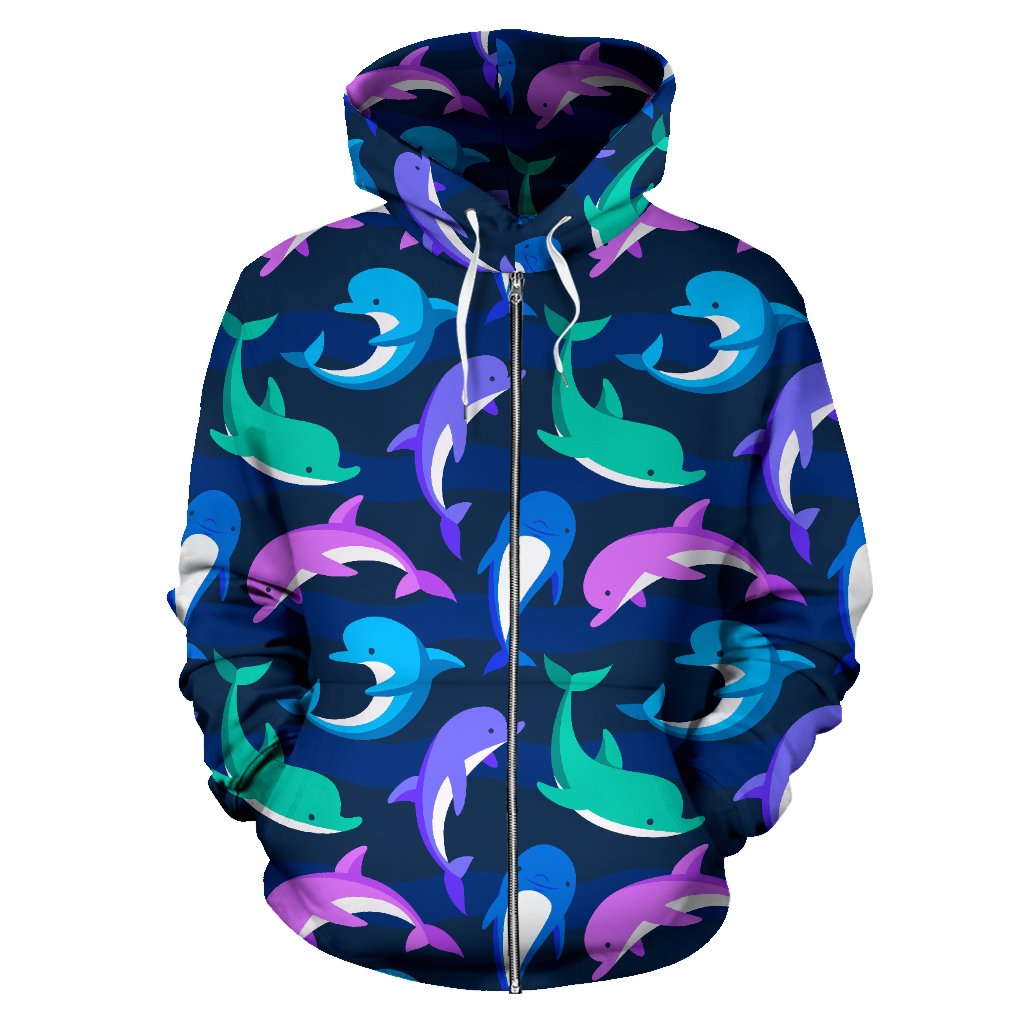 Dolphin Baby All Over Zip Up Hoodie