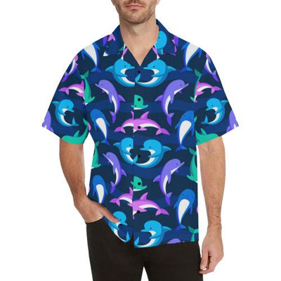 Dolphin Baby Men Hawaiian Shirt
