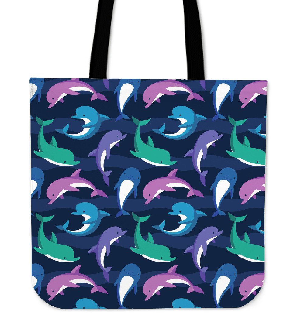 Dolphin Baby Tote Bags
