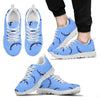 Dolphin Blue Print Men Sneakers