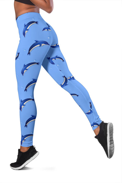 Dolphin Blue Print Women Leggings