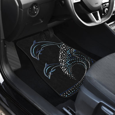 Dolphin Dot Design Car Floor Mats