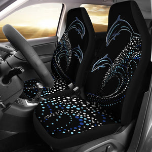 Dolphin Dot Design Universal Fit Car Seat Covers