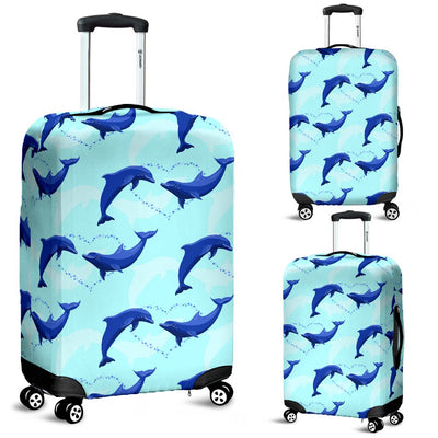 Dolphin Heart Pattern Luggage Cover Protector
