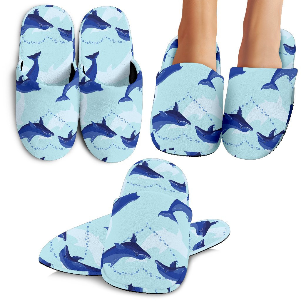 Dolphin Heart Pattern Slippers