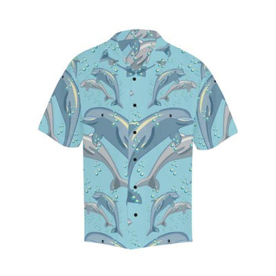 Dolphin Print Pattern Men Hawaiian Shirt