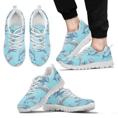 Dolphin Print Pattern Men Sneakers