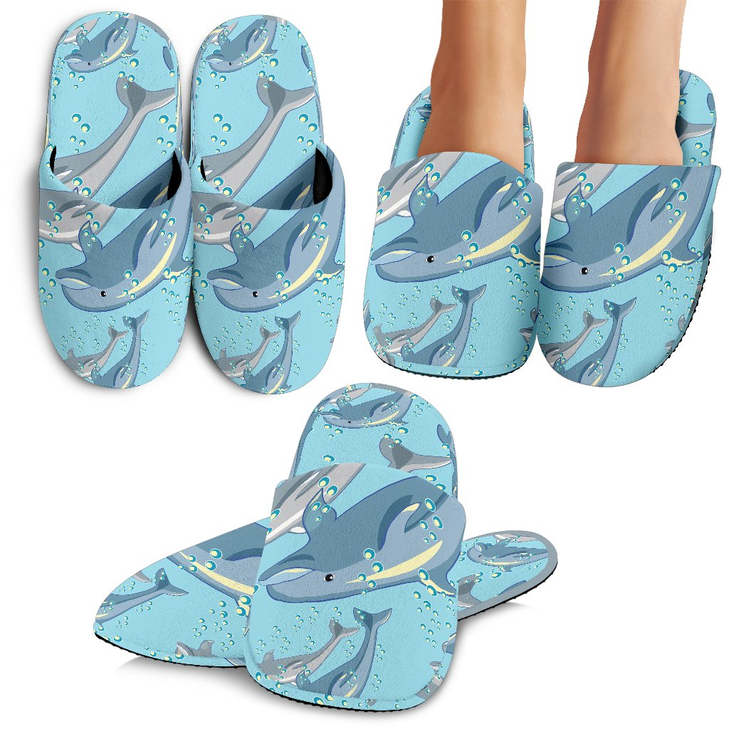 Dolphin Print Pattern Slippers