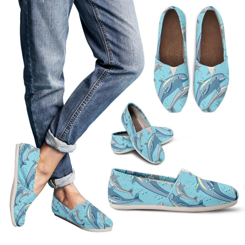 Dolphin Print Pattern Women Casual Shoes-JorJune.com
