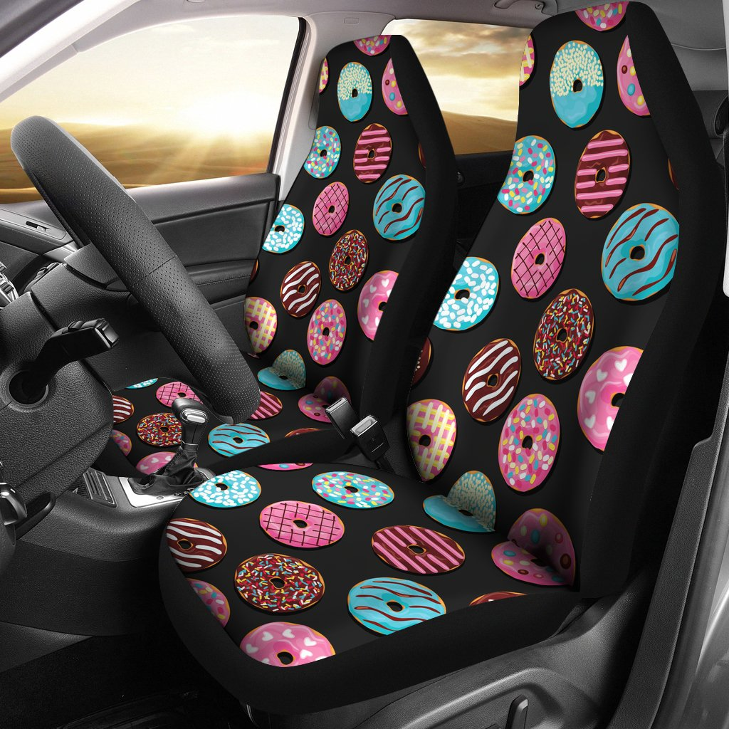 Donut Pattern Print Design DN02 Universal Fit Car Seat Covers