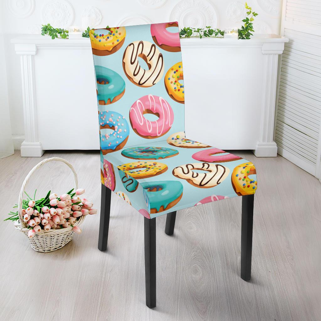 Donut Pattern Print Design DN05 Dining Chair Slipcover-JORJUNE.COM