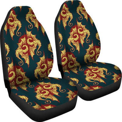 Dragons Gold Design Pattern Universal Fit Car Seat Covers