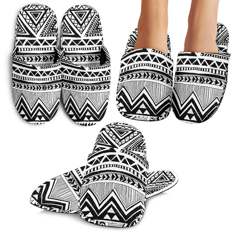Draw Tribal Aztec Slippers