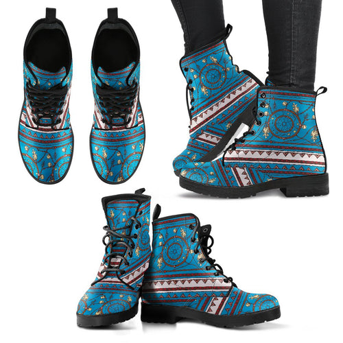 Dream Catcher Aztec Women Leather Boots