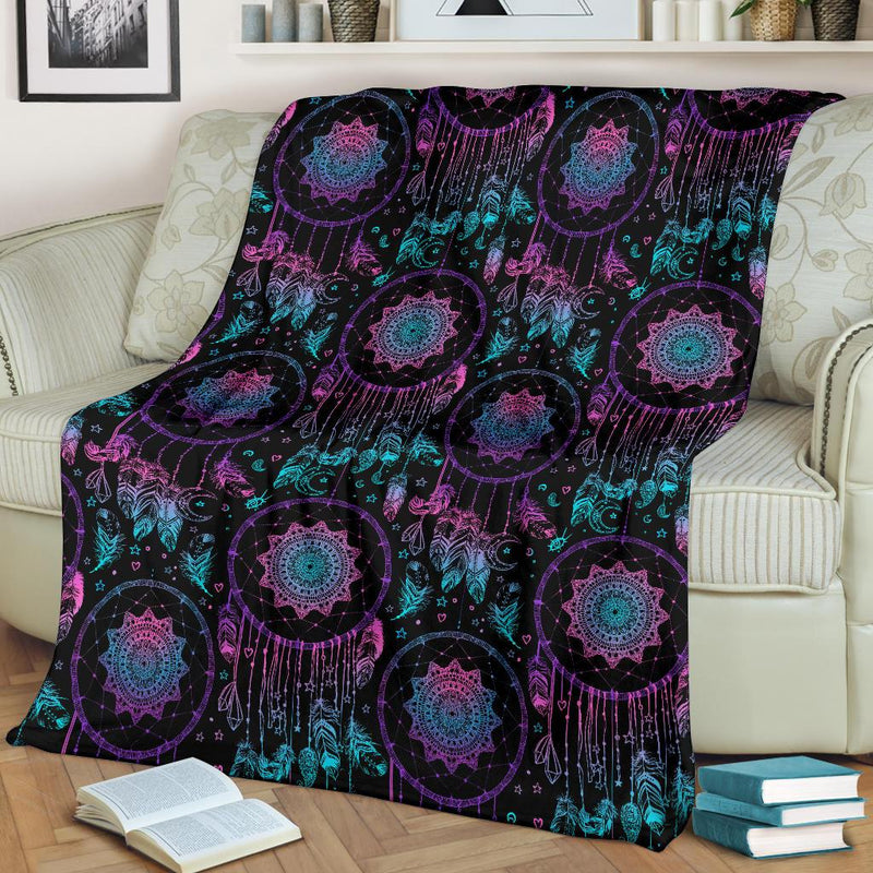 Dream Catcher Boho Mandala Fleece Blanket