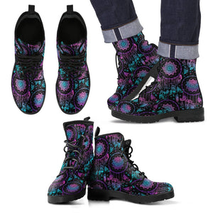 Dream Catcher Boho Mandala Men Leather Boots