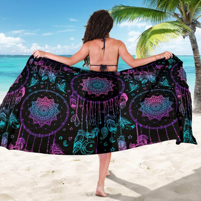 Dream catcher boho mandala Beach Sarong Pareo Wrap