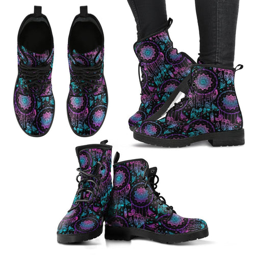 Dream Catcher Boho Mandala Women Leather Boots