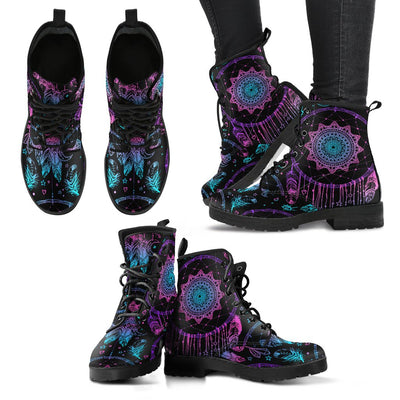 Dream catcher boho mandala Women & Men Leather Boots