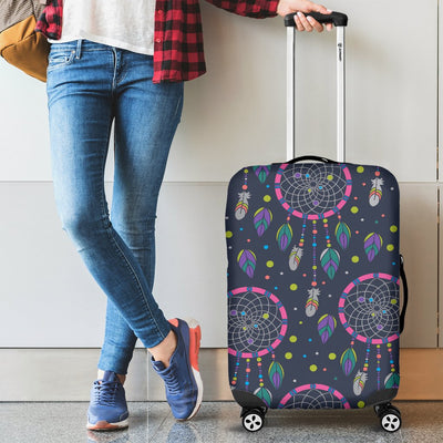 Dream catcher color dot Luggage Cover Protector