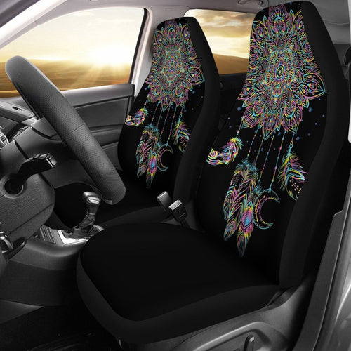 Dream Catcher Colorful Hand Draw Universal Fit Car Seat Covers