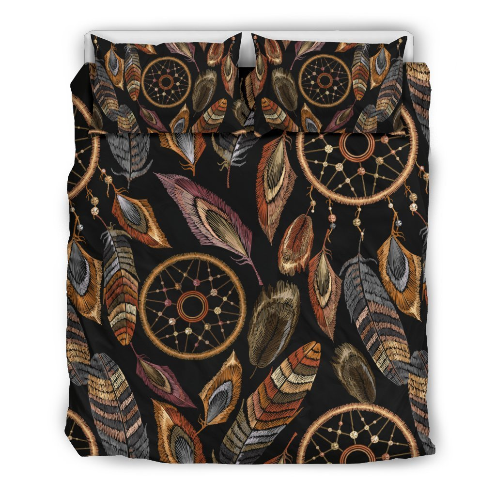 Dream catcher embroidered style Duvet Cover Bedding Set