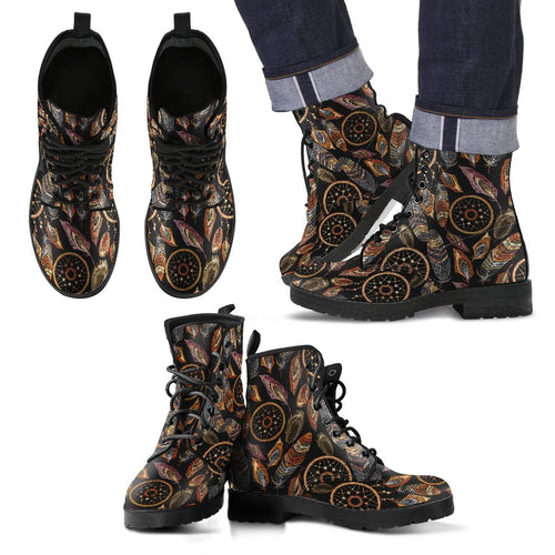 Dream Catcher Embroidered Style Men Leather Boots