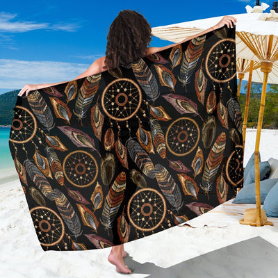 Dream catcher embroidered style Beach Sarong Pareo Wrap