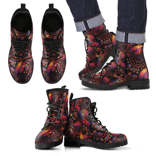 Dream Catcher Native American Men Leather Boots
