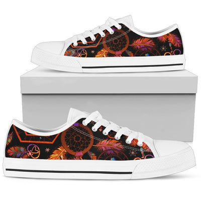 Dream catcher native american Women Low Top Canvas Shoes