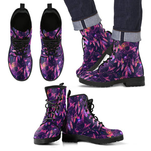 Dream Catcher Neon Men Leather Boots