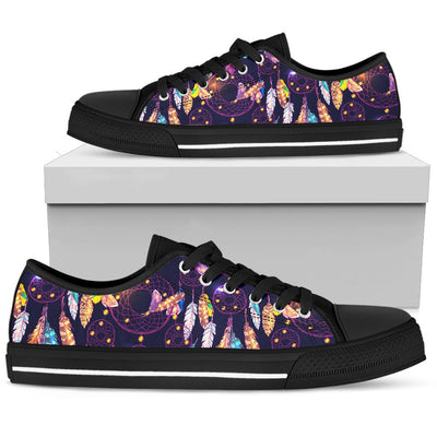 Dream catcher neon Men Low Top Canvas Shoes