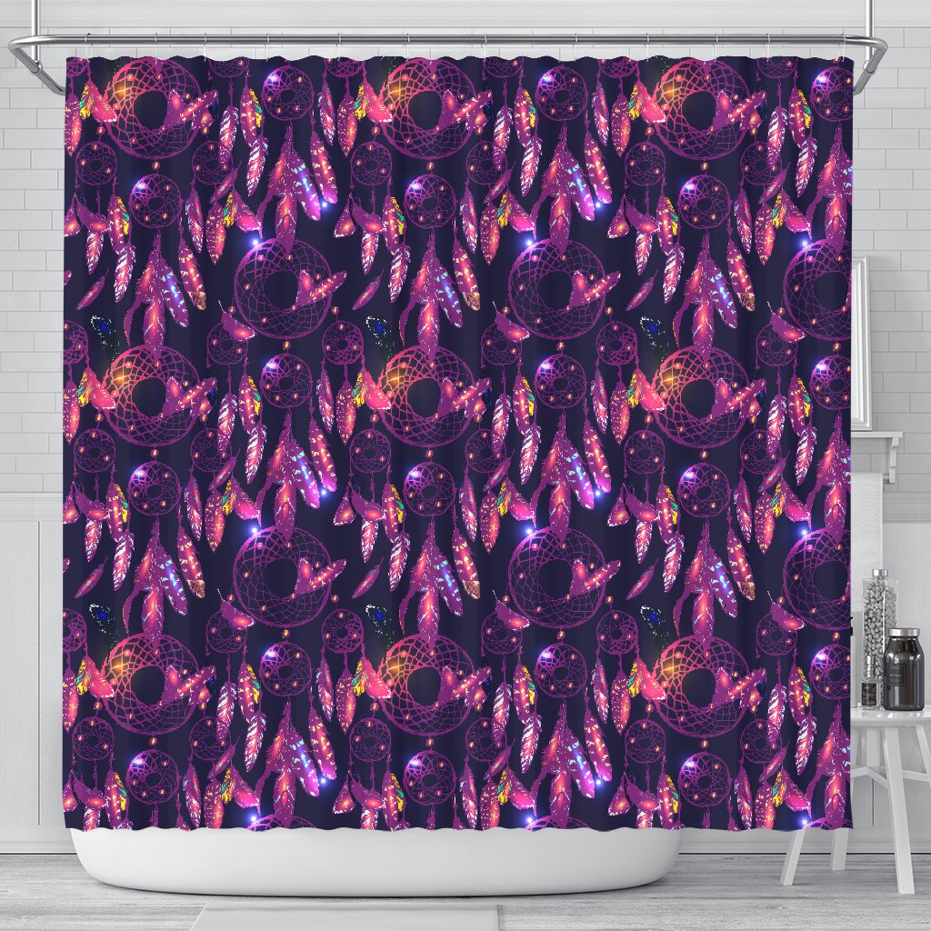 Dream Catcher Neon Shower Curtain JorJune