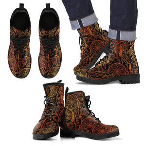 Dream Catcher Sun and Moon Men Leather Boots