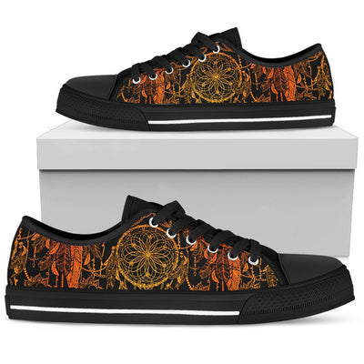Dream catcher Sun and Moon Men Low Top Canvas Shoes