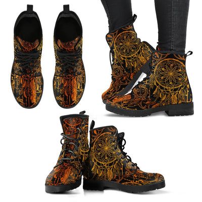 Dream catcher Sun and Moon Women & Men Leather Boots