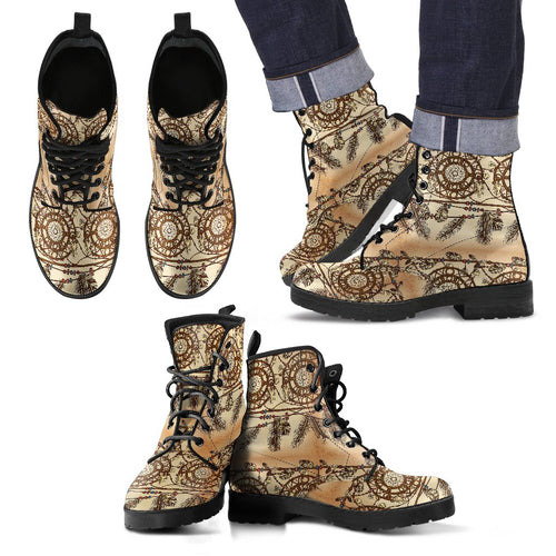 Dream Catcher Vintage Native Men Leather Boots