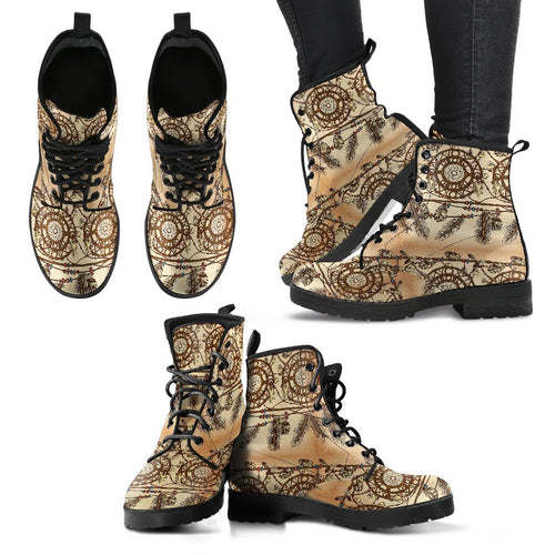 Dream Catcher Vintage Native Women Leather Boots