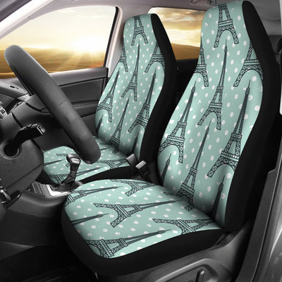 Eiffel Tower Polka Dot Print Universal Fit Car Seat Covers